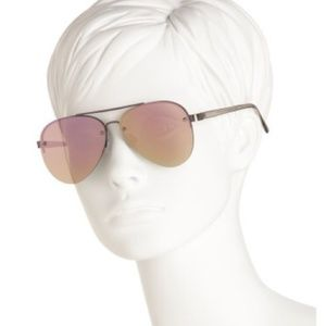 Lucky Brand Aviator Gunmetal Sunglasses Mirrored